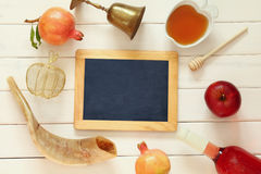 Rosh hashanah (jewish New Year holiday) concept. Traditional sym Royalty Free Stock Images