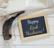 Rosh hashanah (jewish New Year holiday) religious symbols Stock Photos