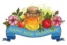 Rosh Hashanah – jewish new year Royalty Free Stock Photo