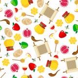 Rosh Hashanah seamless pattern. Royalty Free Stock Images