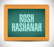 Rosh hashanah sign message illustration design Royalty Free Stock Photos