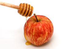 Rosh Hashanah Traditional Apple and Honey Stock Photos