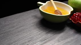 Rosh Hashanah traditional food stock video footage