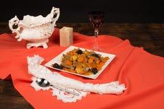 Rosh Hashanah tzimmes,Jewish food Royalty Free Stock Image