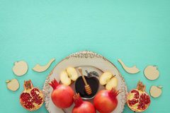 Rosh hashanah & x28;jewish New Year holiday& x29; concept. Traditional symbols Stock Images
