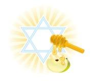 Rosh -rosh-hashanah royalty-vrije illustratie