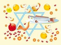Rosh a-Shana of Vakantie Vector Illustratie