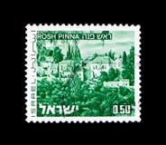 Rosh ytteröra, landskap av Israel serie, circa 1976 Arkivfoto