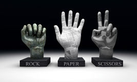 Roshambo - Rock Paper Scissors Royalty Free Stock Image