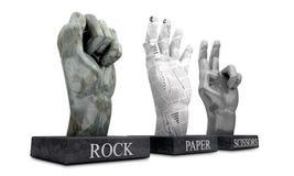 Roshambo - Rock Paper Scissors Stock Image