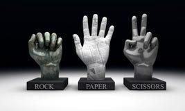 Roshambo - tesouras de papel da rocha Imagem de Stock Royalty Free