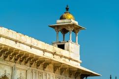 Roshan aronów pawilon przy Agra fortem Uttar Pradesh, India Zdjęcia Stock