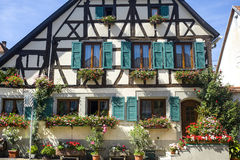 Rosheim (Αλσατία) - σπίτι Στοκ φωτογραφία με δικαίωμα ελεύθερης χρήσης