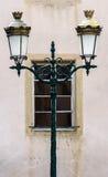 Ретро уличный фонарь стиля в Rosheim, Эльзасе Стоковые Фотографии RF