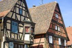 Rosheim (Alsacia) - casas Foto de archivo libre de regalías