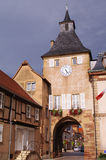 Rosheim door. Medieval rosheim door in alsace in france Stock Photography