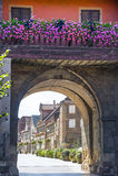 Rosheim (l'Alsazia) - arco Fotografie Stock