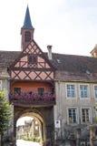 Rosheim (l'Alsazia) - arco Immagini Stock