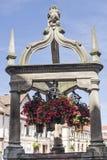 Rosheim (Well Alsace) - och blommor Royaltyfria Foton