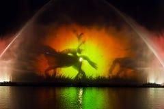 Roshen springbrunnshow Arkivfoton