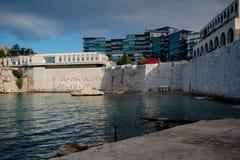 Rosia Bay, Gibraltar stock images