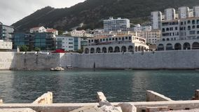 Rosia-Bucht Gibraltar stock footage