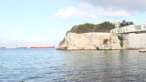 Rosia-Bucht Gibraltar stock video footage