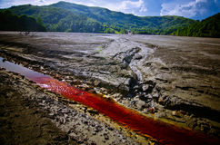 Rosia Montana. The toxic waste from the mine operation in Rosia Montana, Romania, Geamana village Stock Photography