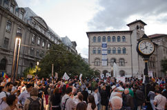 Rosia Montana Protest in Boekarest, Roemenië (23) Stock Afbeelding