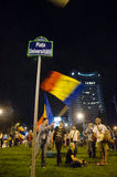 Rosia Montana Protest in Bucharest,Romania - 08 September(7). Thousands of people gathered in Bucharest for a 8th day of protests against plans for Europe's Stock Photo