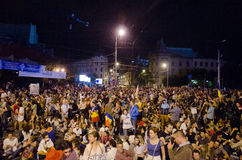 Rosia Montana Protest in Bucharest,Romania - 08 September(10). Thousands of people gathered in Bucharest for a 8th day of protests against plans for Europe's Stock Images