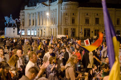 Rosia Montana Protest in Bucharest,Romania(3) Royalty Free Stock Images