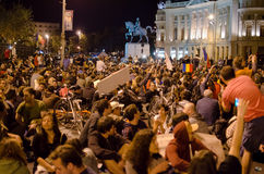 Rosia Montana Protest in Bucharest,Romania(6) Royalty Free Stock Photo