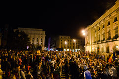 Rosia Montana Protest in Bucharest,Romania(12). Thousands of Romanians vehemently oppose the passing of the draft legislation on the open-pit cyanide-based Stock Photo
