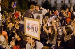 Rosia Montana Protest in Bukarest, Rumänien (14) Lizenzfreies Stockfoto