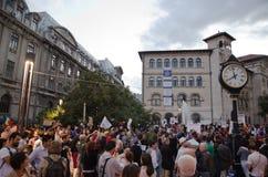 Rosia Montana Protest in Bukarest, Rumänien (23) Stockbild