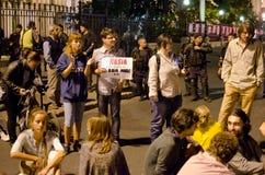 Rosia Montana Protest i Bucharest, Rumänien (21) Royaltyfria Foton
