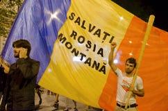 Rosia Montana Protest i Bucharest, Rumänien - 08 September (5) Royaltyfria Foton