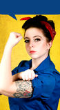 Rosie the Riveter. Pinup girl tribute to rosie the riveter Stock Photography