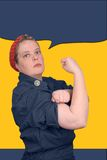Rosie the riveter Royalty Free Stock Photography