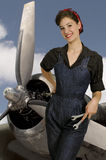 Rosie the Riveter. Beautiful woman dressed as the iconic Rosie the Riveter Stock Photos