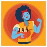 Rosie the Riveter Cartoon Illustration vector illustration