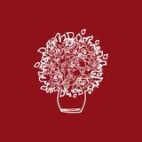 Rosier d'illustration Floraison de pot de fleurs Photographie stock