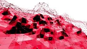 Rosig eller rosa låg poly svängande yttersida som elegant modellmiljö Röd polygonal geometrisk vibrerande miljö vektor illustrationer