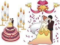 Rosige Hochzeit lizenzfreie abbildung