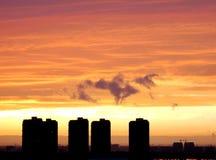 Rosige Wolken Stockbilder