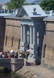 Rosja święty Petersburg Lipiec 2016 Peter i Paul fortecy wejście Fotografia Royalty Free