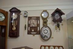 Rosja, Angarsk 02/01/2018 muzeów antyczny zegar Obraz Royalty Free