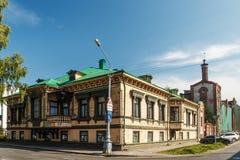 Rosja, Arkhangelsk 08 09 2014 Mieści A U Surkov w Arkhangel Zdjęcie Stock