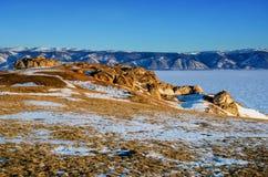 Rosja baikal jezioro Pustynny brzeg Olkhon wyspa zdjęcia stock
